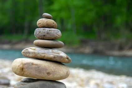 سنگهای متعادل مدیتیشن